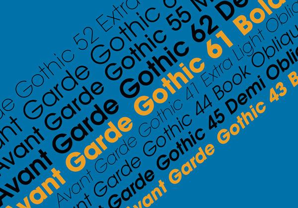 Avant Garde Gothic Font Book On Corcoran Portfolios