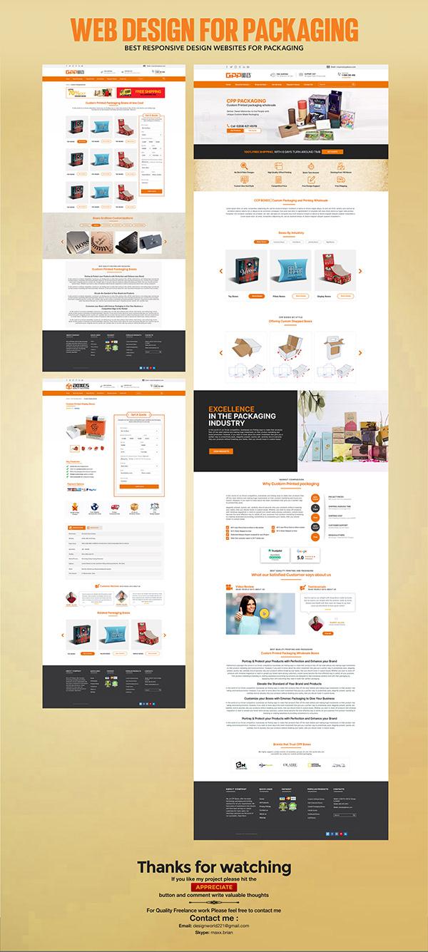 Custom Printing & Packaging Web design