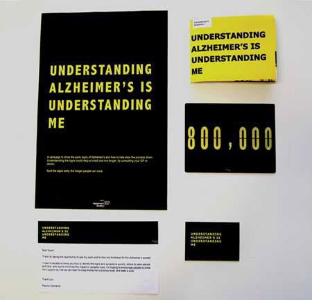 campaign alzheimers black yellow print graphic design brand