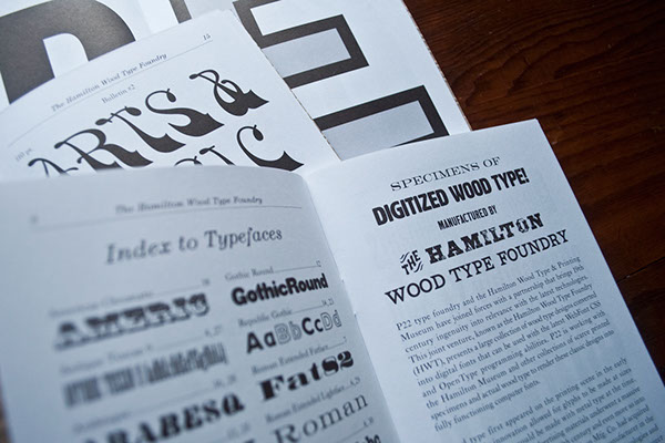 Hamilton Wood Type Foundry Chapbook on Behance