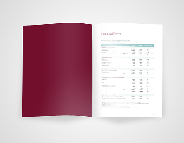 Rapport Annuel Saq On Pantone Canvas Gallery
