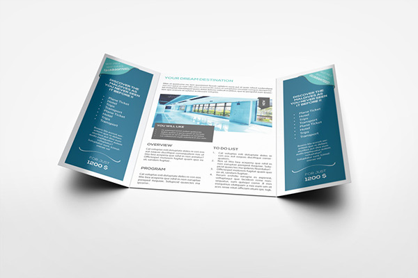 A4 Gatefold Brochure Mockup On Behance
