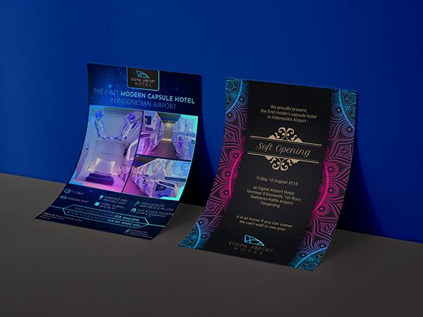 Digital Airport Hotel's brochure or flyer design