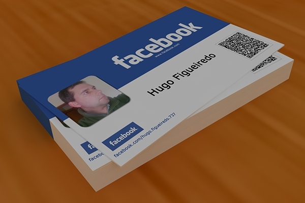 business card based on facebook and made in photoshop on behance