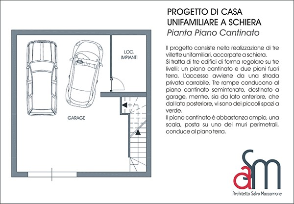 Progetto di casa unifamiliare a schiera on behance for Piani di casa di architettura
