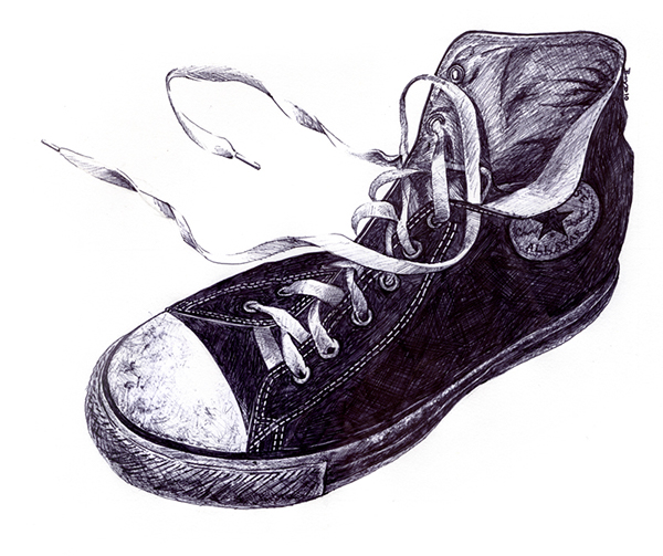 converse all star drawing