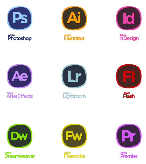 adobe creative suite icons re imagined on behance