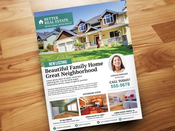 better real estate flyer v2 on behance