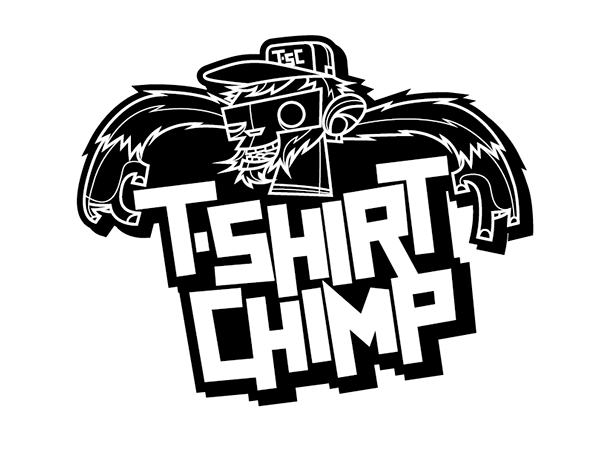 shirt chimp logo design for t shirt company in canada