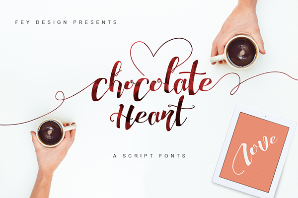 Chocolate heart free font on behance