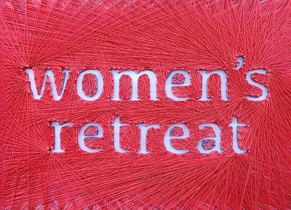 thread art string craft Physical Design handmade postcard Christian Camp womens retreat Women's Retreat Miracle Camp Retreat Center