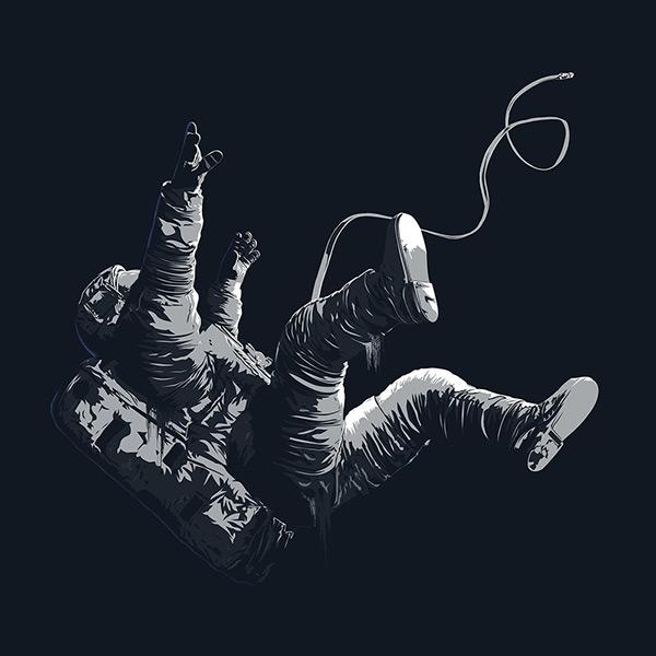 astronaut in space vector art - photo #32