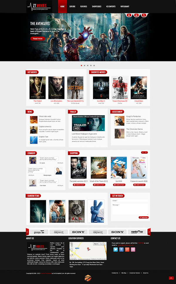 Movie - Responsive joomla template on Behance