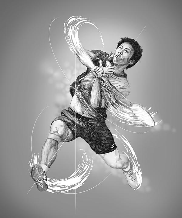 world class badminton players on behance