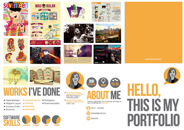 portfolio self promo on behance
