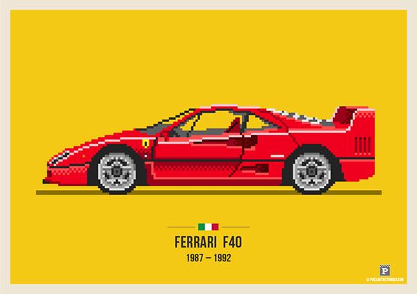 Pixel Art Voiture Ferrari