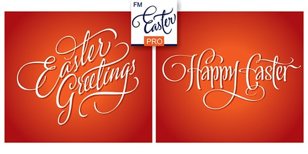 Fonts fm easter pro on behance fm easter pro consists of 26 hand lettered easter greetings like happy easter easter joy easter greetings etc all the words and phrases are original and m4hsunfo