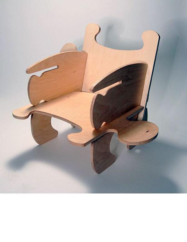 Children S Chair Set Flat Pack On Behance