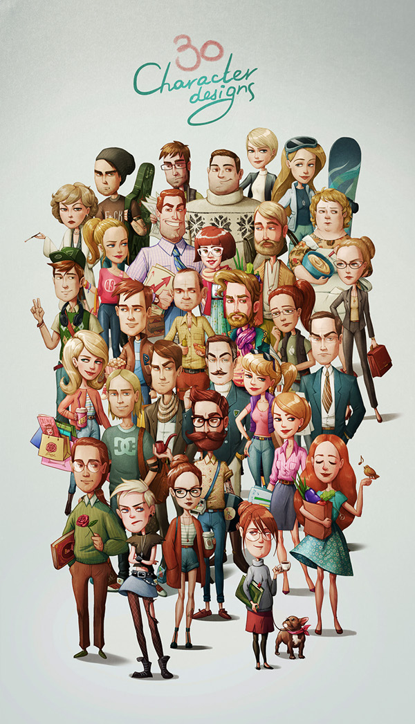 Character Design Behance : Character designs based on personality types behance