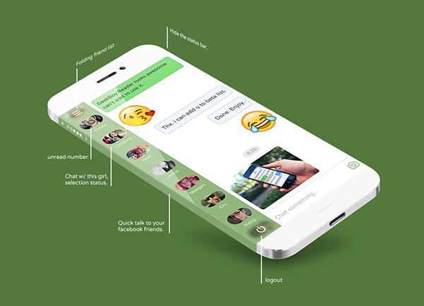 Facebook Messenger App Interface Desgin on Behance