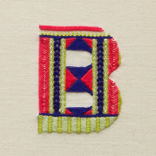 type craft thread pattern sweater alphabet knit tactile Embroidery sewn stitch material