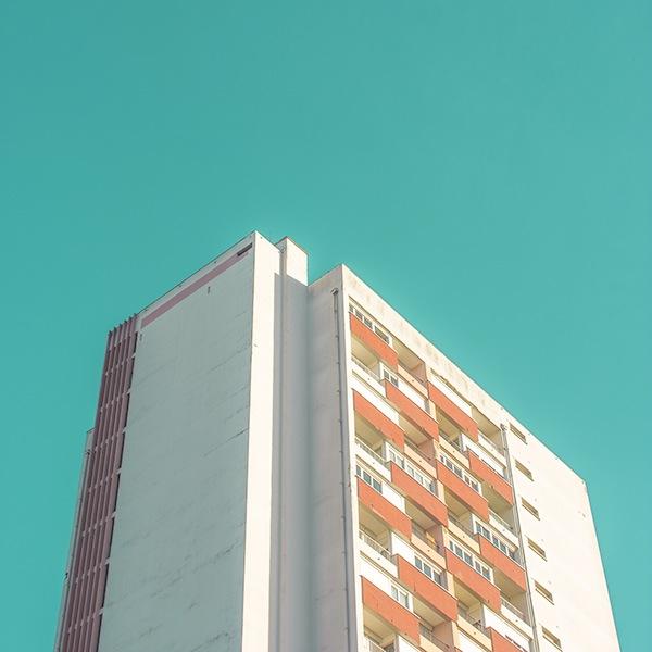 Minimalism Urban city archi blue colors SKY