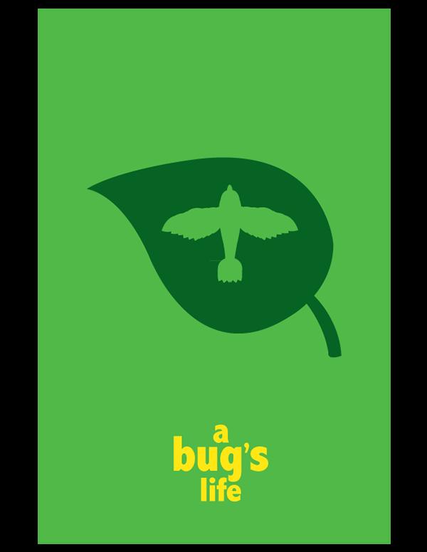 Pixar minimalist movie posters on behance for Minimalist living movie