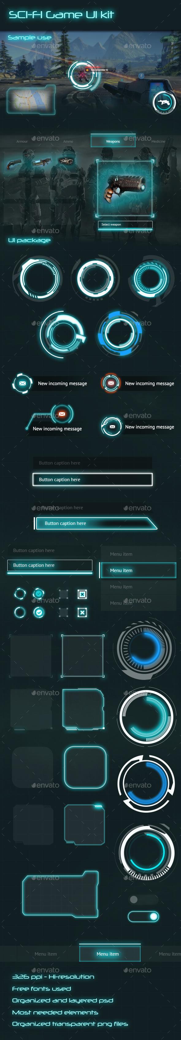 Sci-Fi Game UI Kit on Behance