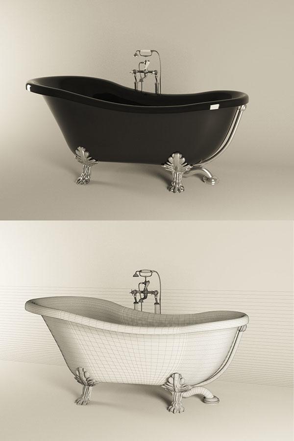 Kerasan Retro Bathtub 1051 On Behance