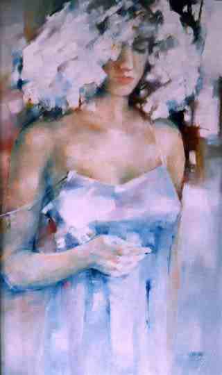 Oil Painting  WOMAN girl portrait