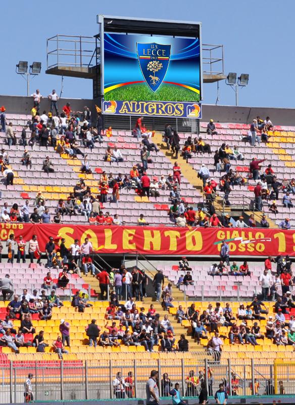 Tabellone luminoso STADIO stadium LED Display calcio Serie A serie B Lega Pro