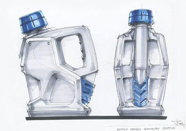 Bottle design idea sketch 2010 on behance for Industrial design packaging