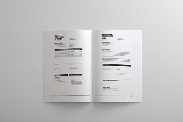 Branding Quotation Acceptance Quote Completed Form And Invoice