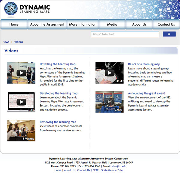 Dynamic Learning Maps Project on Behance on