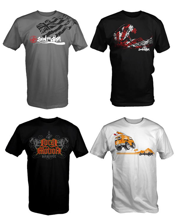 Local motion hawaii t shirts on pantone canvas gallery for Hawaiian design t shirts