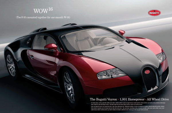 Bugatti Veyron Ads On Behance