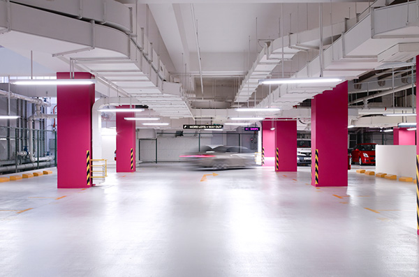 The Cathay Carpark On Pantone Canvas Gallery