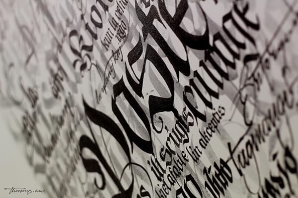 theosone lettering Custom art Mural typo