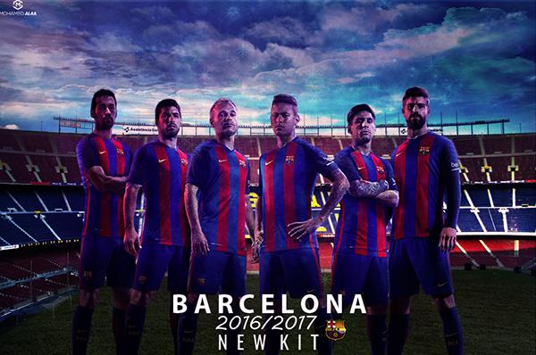 Barcelona New Kit Wallpaper 20162017 On Behance
