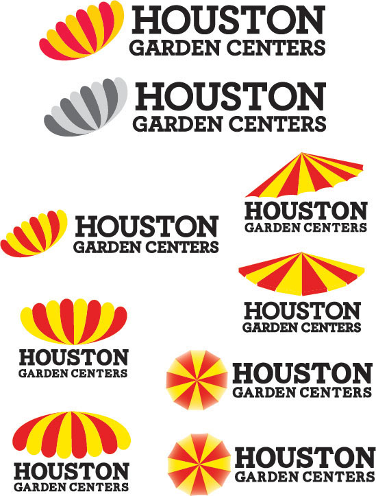 Redesign logo houston garden centers on behance Houston garden centers houston tx