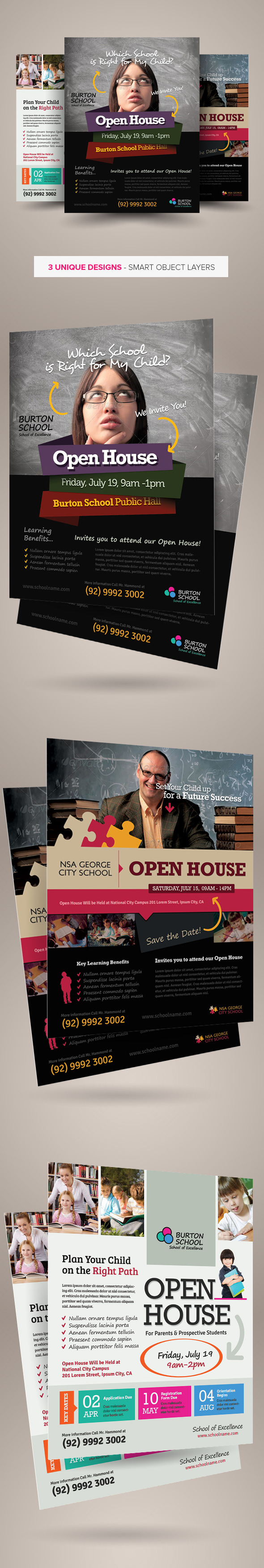 School Open House Flyers On Behance - Open house ad template