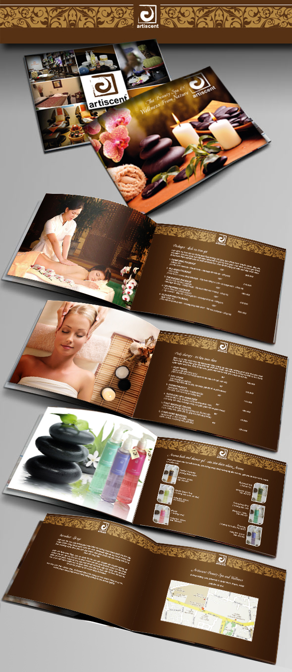 Atiscent Spa Brochure Catalogue on Behance – Spa Brochure