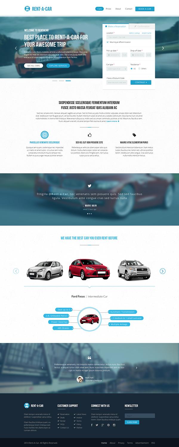 Booking car rental theme theme for wp clean light online rental rental car theme download renty Transport UI wordpress HTML