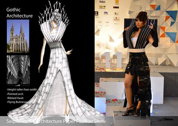Paper Architecture Fashion Show For Sequence 2011 On Student Show