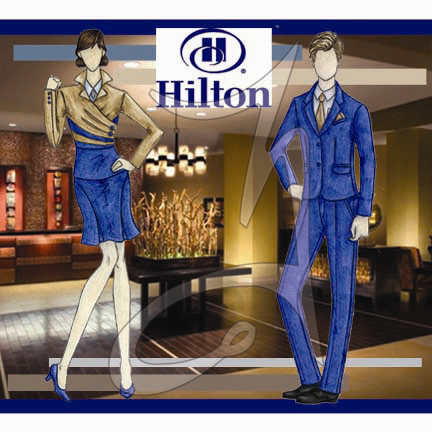 hilton reception service uniforms on behance