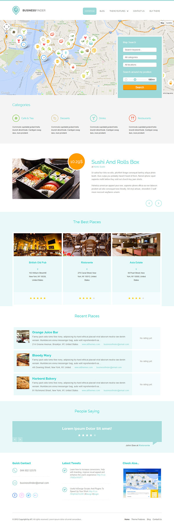 Business Finder: Directory Listing WordPress Theme on Behance