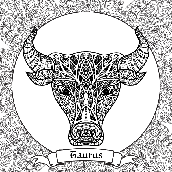 Zodiac Signs Coloring Pages On Behance Zodiac Coloring Pages