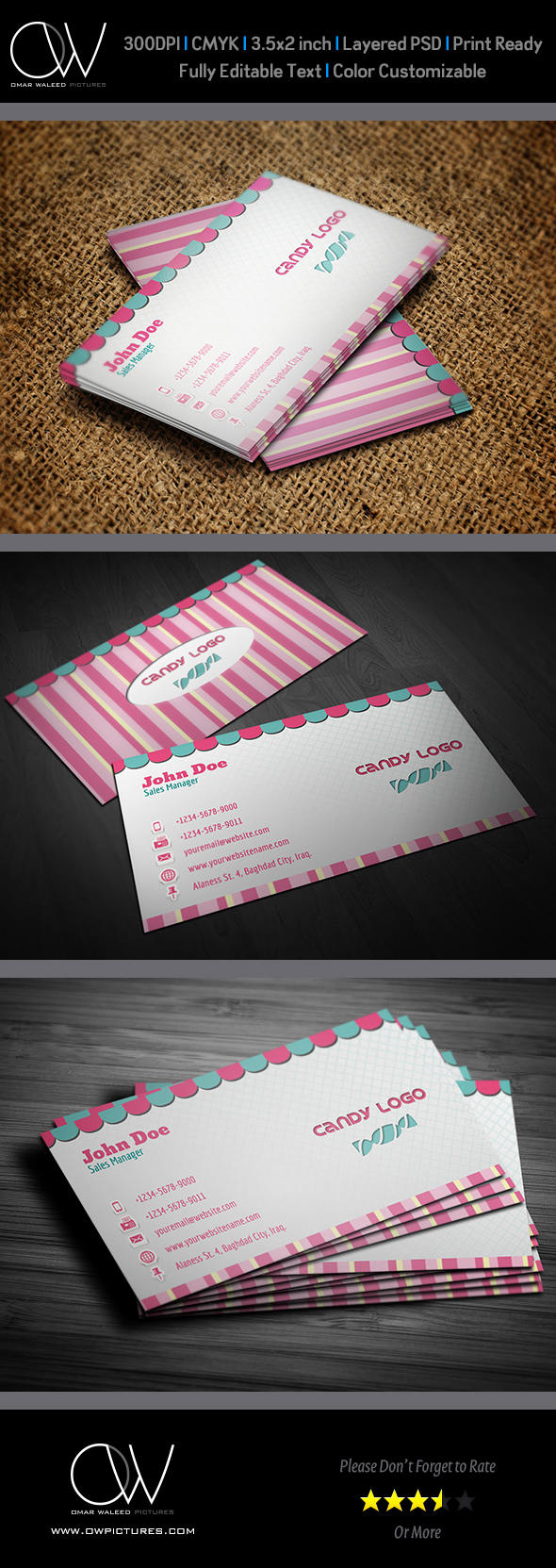 Candy business card on behance colourmoves