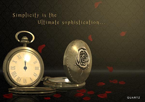 Watch Poster Design 3d Pocket Watch Poster Design