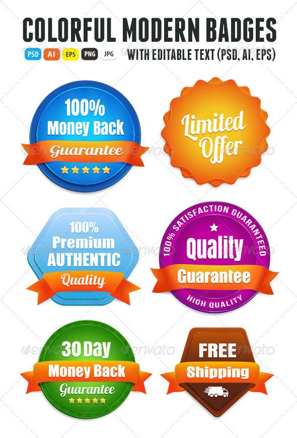 Modern Quality Guarantee Badges on Behance